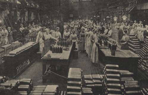 Women workers at the bomb factory