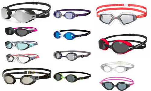 Adult swim goggles in range of colours