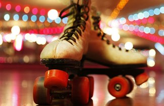 Roller boots and disco lights