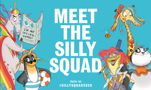 Silly Squad reading challenge characters