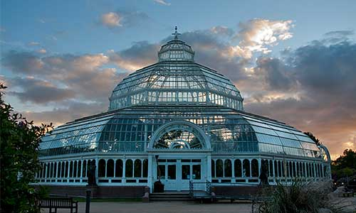 Palm House at dusk