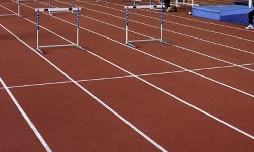 Track and hurdles